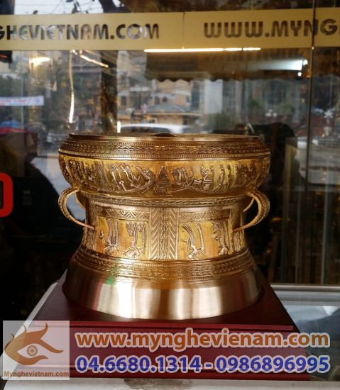 Trong dong Dong Son, Trong dong Ngoc Lu, trong dong Viet Nam, qua tang trong dong, trong dong duc, trong dong gia co, trong dong co,trong dong mau xanh,Trống đồng quà tặng, ĐK 20cm,Trống Đồng Việt Nam,Quà tặng mỹ nghệ cao cấp