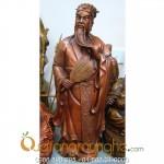 Tượng Khổng Minh cao 40cm bằng đồng