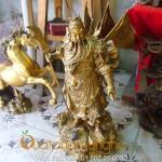 Tượng đồng Quan Công cưỡi rồng cao 55cm