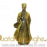 Tượng Khổng Minh cao 50cm đúc từ đồng nguyên khối