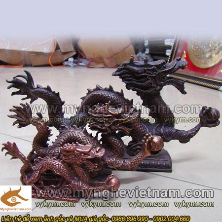tượng rồng phong thủy đúc đồng giả cổ