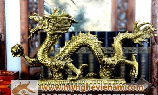 tượng rồng phong thủy bằng đồng