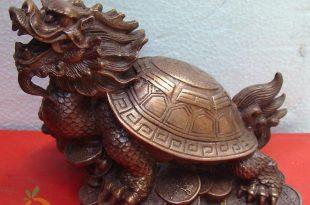long quy rùa đầu rồng chấn trạch phong thủy