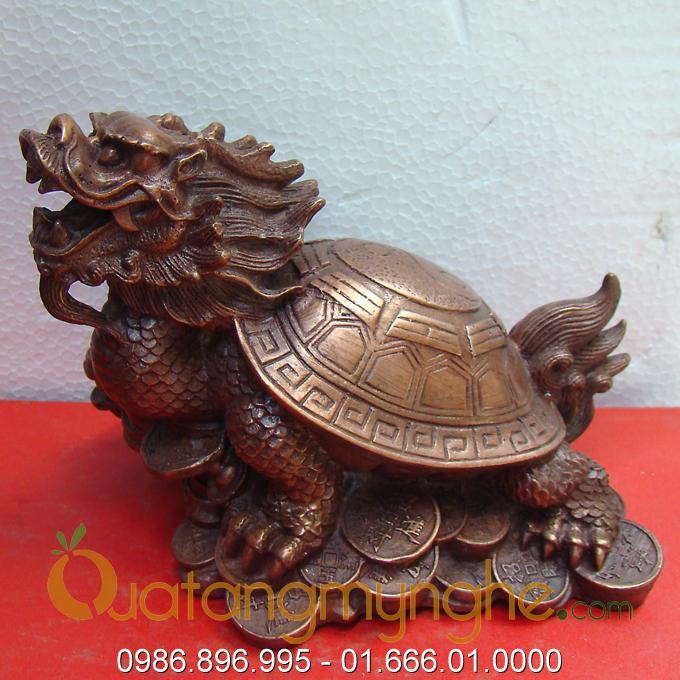 Cửa hàng phong thủy long quy rùa đầu rồng bằng đồng0