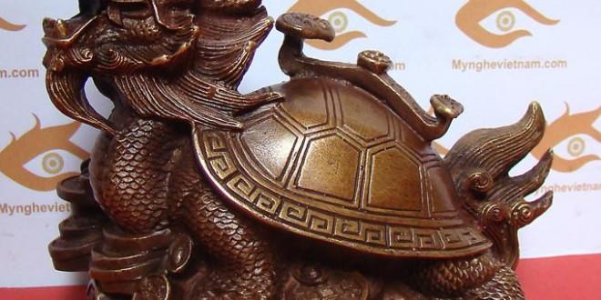 rùa đầu rồng long quy cõng gậy như ý