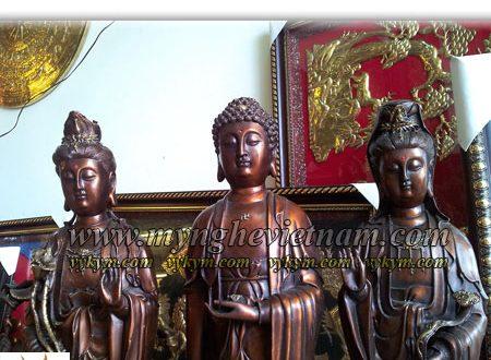 tượng tây phương tam thánh phật thờ cúng