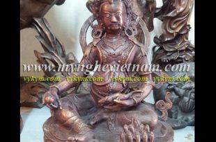 tượng hoàng thần tài bằng đồng tay cầm chuột