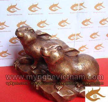 tượng thỏ đồng phong thủy