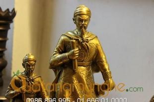 tượng trần hưng đạo bằng đồng 30 32cm