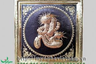 tranh chữ nhẫn bằng đồng hóa rồng