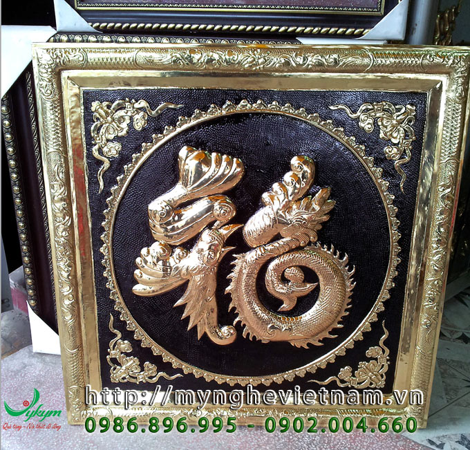 tranh chữ phúc rồng bằng đồng