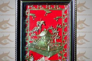 tranh quà tặng chùa 1 cột