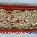Tranh đồng rồng vờn ngọc 80x1m6