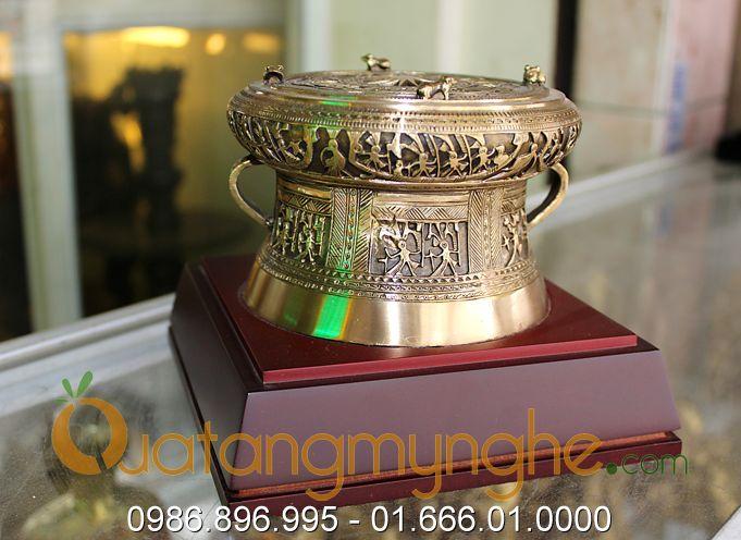 trống đồng quà tặng đk 12cm mẫu đền hùng phú thọ 4
