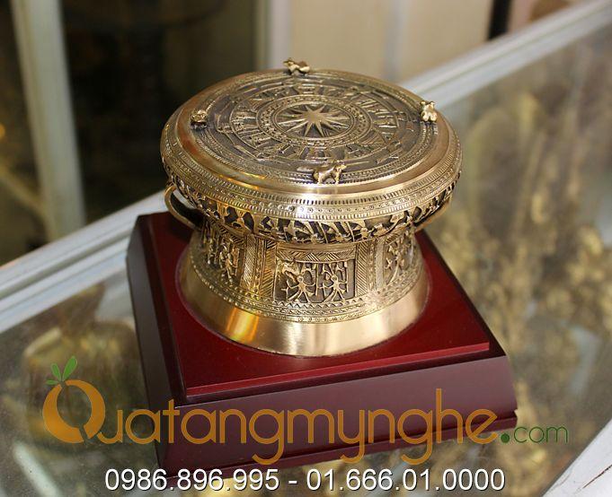 trống đồng quà tặng đk 12cm mẫu đền hùng phú thọ 3