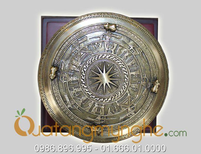 trống đồng quà tặng đk 12cm mẫu đền hùng phú thọ 2