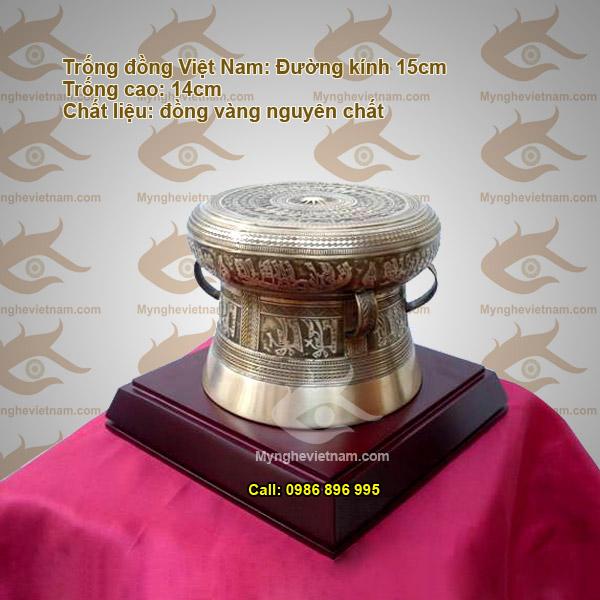 Trống đồng quà tặng ĐK 16cm,Trống đồng Việt Nam, mô hình đúc thu nhỏ