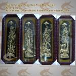 Tranh Tứ Quý Tùng Cúc Trúc Mai, tranh bốn mùa bằng đồng