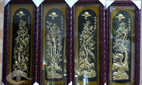 tranh tứ quý bốn mùa tùng cúc trúc mai 8