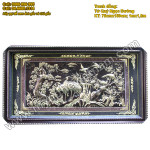 Tranh đồng Tứ Quý Ngọc Đường, tranh phong thủy tùng hạc