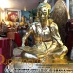 Tượng Bác Hồ ngồi đọc báo 25cm đồng vàng