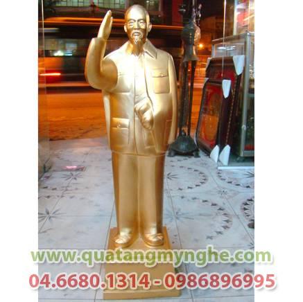 Tượng bác hồ vẫy tay chào, cao 90cm, tượng toàn thân Bác Hồ, tượng toàn thân, chân dung Bác Hồ bằng đồng