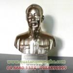 Tượng bán thân bác cao 25cm, tượng đồng Bác Hồ