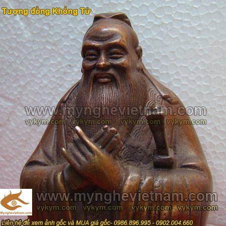 Tượng Khổng Tử, Lão Tử, tượng đúc bằng đồng0