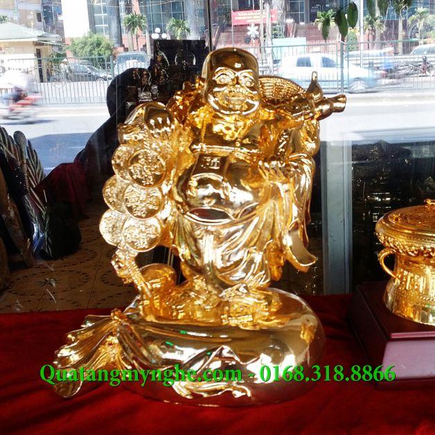 Tượng phật di lặc mạ vàng, tượng thờ cúng, tượng phật bằng đồng