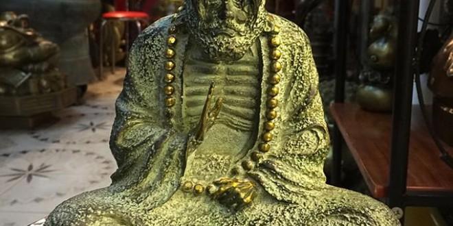 tượng đạt ma sư tổ, tượng đức đạt ma bằng đồng 20cm