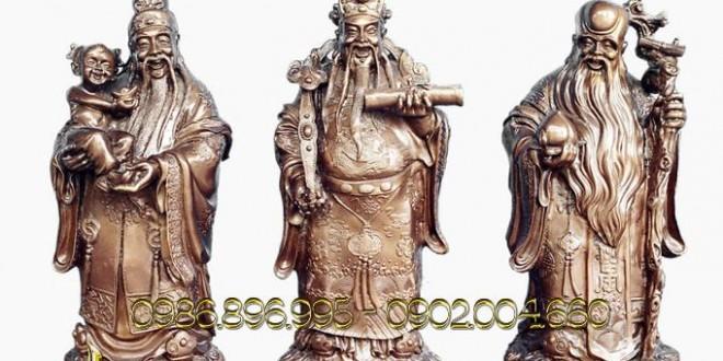 tượng tam đa phúc lộc thọ bằng đồng giả cổ