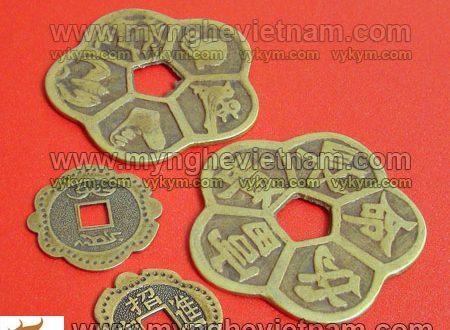 tiền xu hoa mai, tiền hoa mai thập toàn phong thủy bằng đồng