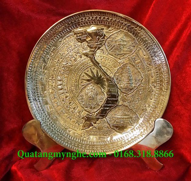 đĩa đồng quà tặng, đĩa lưu niệm, đĩa gò đồng, quà tặng lưu niệm