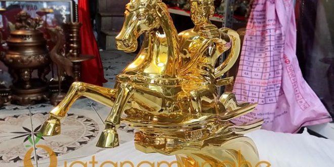 tượng thánh gióng đúc đồng nguyên chất