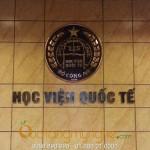 Huy hiệu logo học viện quốc tế bộ công an