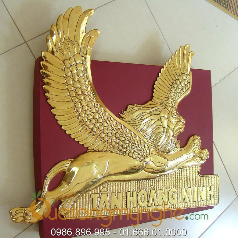 chế tác sản xuất logo công ty bằng đồng, logo mạ vàng 3