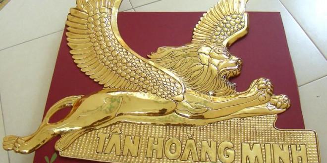 chế tác sản xuất logo công ty bằng đồng, logo mạ vàng 4