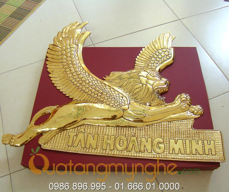 Chế tác sản xuất logo công ty bằng đồng, logo mạ vàng0