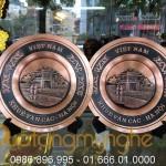 Đĩa đồng lưu niệm, đĩa chùa 1 cột – khuê văn các – tháp rùa