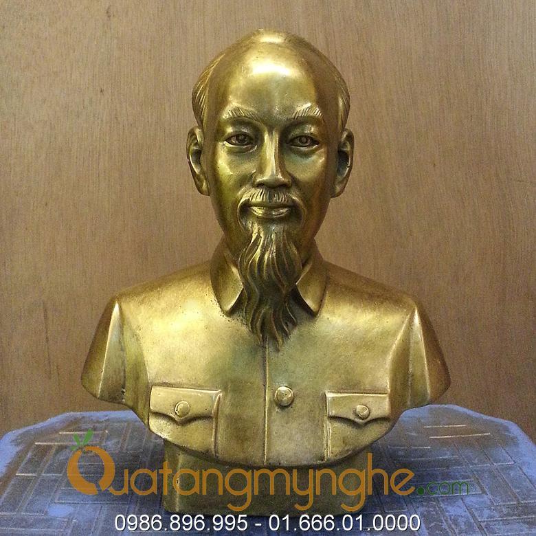tượng bác hồ bán thân bằng đồng 20cm