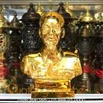 Tượng bác hồ bằng đồng mạ vàng 24k 9999 cao 30cm