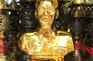 tượng bác hồ bằng đồng mạ vàng 24k 3