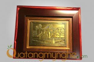 tranh quà tặng chùa 1 cột và khuê văn các, quà tặng tranh mỹ nghệ cho người nước ngoài