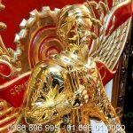 Tượng trần hưng đạo đúc đồng mạ vàng cao 50cm