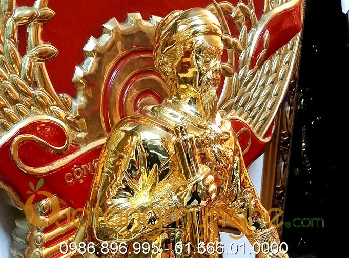 Tượng trần hưng đạo đúc đồng mạ vàng cao 50cm0