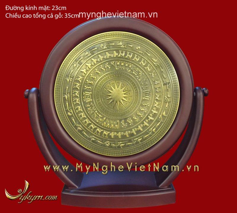 Biểu trưng mặt trống đồng xoay đk 30cm0