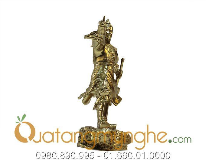 Tượng Trần Hưng Đạo chỉ tay bằng đông 25cm
