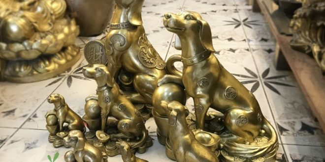 các mẫu tượng chó bằng đồng làm quà tặng năm mậu tuất 2018