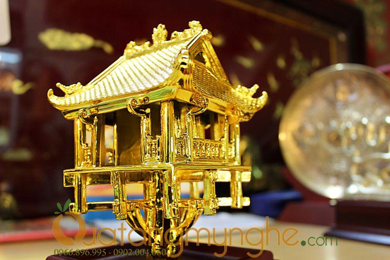 Biểu tượng chùa 1 cột hà nội bằng đồng mạ vàng0