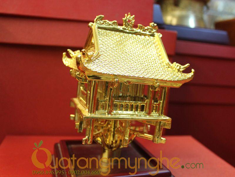 biểu tượng chùa 1 cột hà nội bằng đồng mạ vàng
